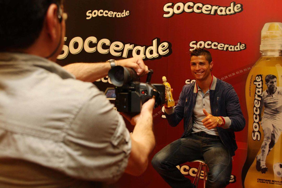Sesión de vídeo con Cristiano Ronaldo para el vídeo corporativo