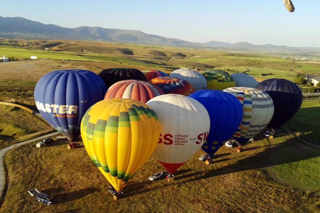 Vista del conjunto de globos desde el aire