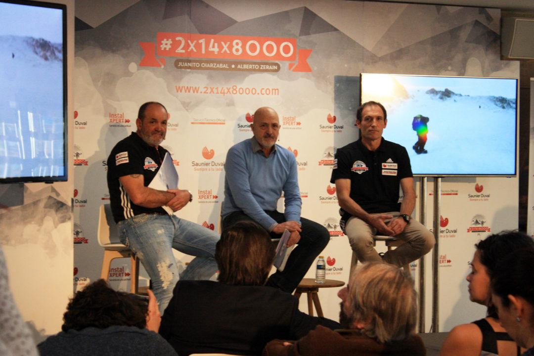 Juanito Oiarzabal, Sebastián Álvaro y Alberto Zerain